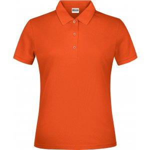 Dámské triko s límečkem classic JAMES NICHOLSON JN791 ORANGE