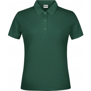 Dámské triko s límečkem classic JAMES NICHOLSON JN791 DARK GREEN
