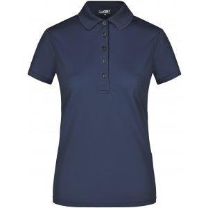 Dámské triko s límečkem funkční premium JAMES NICHOLSON JN574 NAVY
