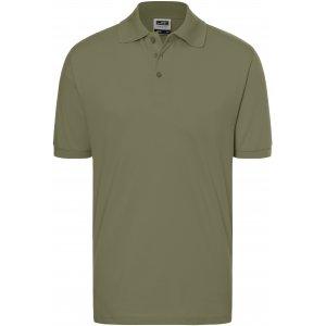 Pánské triko s límečkem premium JAMES NICHOLSON JN070 OLIVE