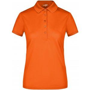 Dámské triko s límečkem funkční premium JAMES NICHOLSON JN574 DARK ORANGE