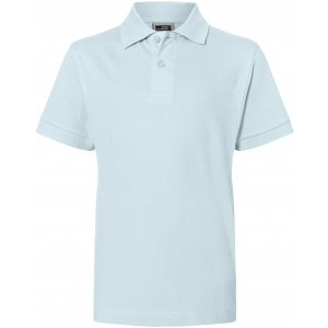 Dětské triko s límečkem premium JAMES NICHOLSON JN070K LIGHT BLUE