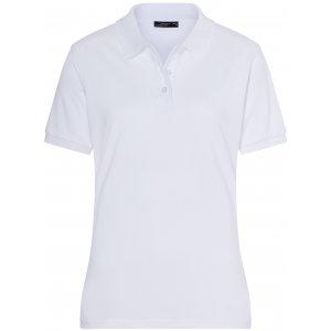Dámské triko s límečkem premium JAMES NICHOLSON JN071 WHITE
