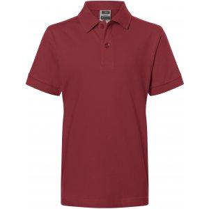 Dětské triko s límečkem premium JAMES NICHOLSON JN070K WINE