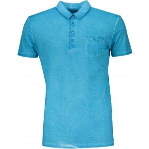 Pánské triko s límečkem fashion JAMES NICHOLSON JN988 TURQUOISE