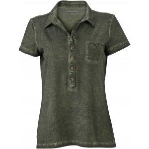 Dámské triko s límečkem fashion JAMES NICHOLSON JN987 GRAPHITE
