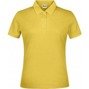 Dámské triko s límečkem classic JAMES NICHOLSON JN791 YELLOW