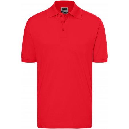 Pánské triko s límečkem premium JAMES NICHOLSON JN070 SIGNAL RED