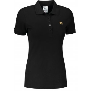 Dámské triko s límečkem ALTISPORT ALW065210 ČERNOZLATÁ