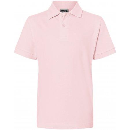 Dětské triko s límečkem premium JAMES NICHOLSON JN070K ROSE