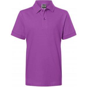 Dětské triko s límečkem premium JAMES NICHOLSON JN070K PURPLE
