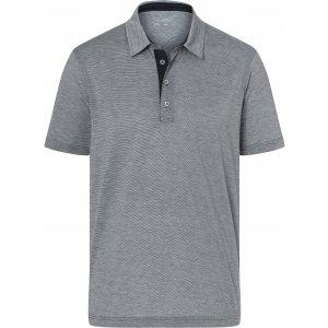 Pánské triko funkční s límečkem JAMES NICHOLSON JN754 CARBON/WHITE