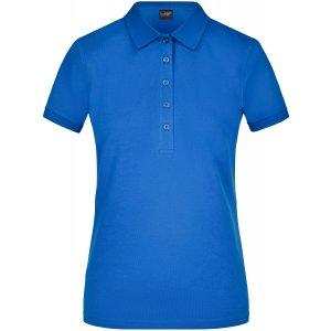 Dámské triko s límečkem elastic JAMES NICHOLSON JN709 ROYAL