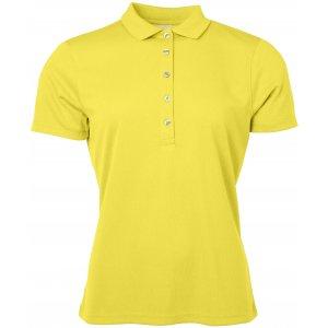 Dámské triko s límečkem funkční classic JAMES NICHOLSON JN719 YELLOW