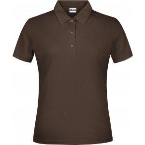 Dámské triko s límečkem classic JAMES NICHOLSON JN791 BROWN
