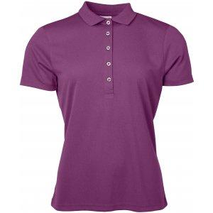 Dámské triko s límečkem funkční classic JAMES NICHOLSON JN719 PURPLE