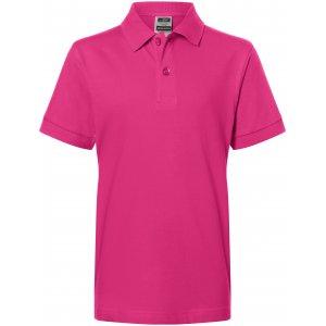 Dětské triko s límečkem premium JAMES NICHOLSON JN070K PINK