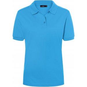 Dámské triko s límečkem premium JAMES NICHOLSON JN071 AQUA
