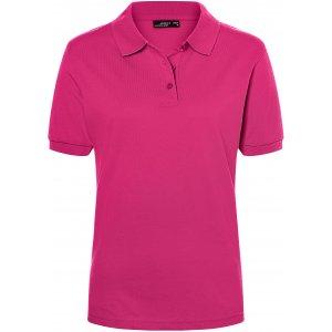 Dámské triko s límečkem premium JAMES NICHOLSON JN071 PINK