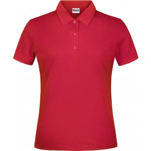 Dámské triko s límečkem classic JAMES NICHOLSON JN791 RED