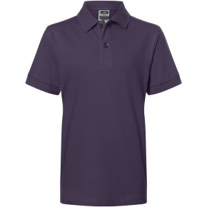 Dětské triko s límečkem premium JAMES NICHOLSON JN070K AUBERGINE