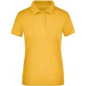 Dámské triko s límečkem funkční cooldry JAMES NICHOLSON JN197 GOLD YELLOW