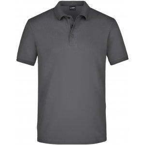 Pánské triko s límečkem elastic JAMES NICHOLSON JN710 GRAPHITE