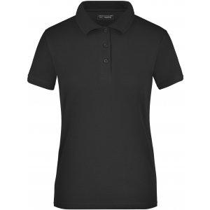 Dámské triko s límečkem funkční cooldry JAMES NICHOLSON JN197 BLACK