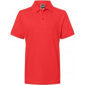 Dětské triko s límečkem premium JAMES NICHOLSON JN070K TOMATO