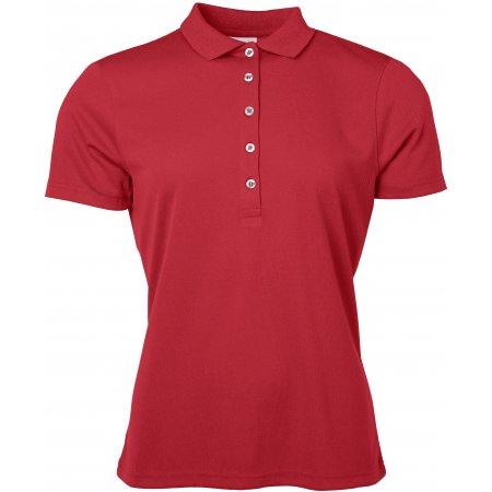 Dámské triko s límečkem funkční classic JAMES NICHOLSON JN719 RED