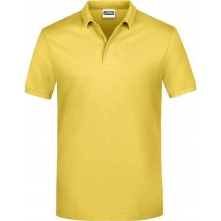 Pánské triko s límečkem classic JAMES NICHOLSON JN792 YELLOW