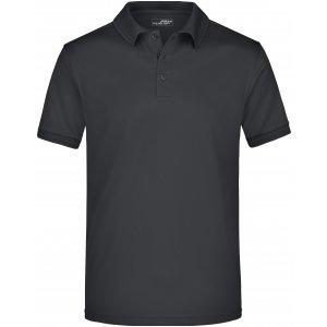 Pánské triko s límečkem funkční premium JAMES NICHOLSON JN576 BLACK