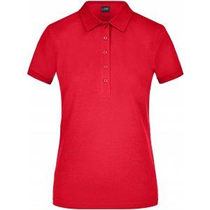 Dámské triko s límečkem elastic JAMES NICHOLSON JN709 RED