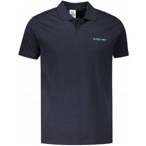 Pánské triko s límečkem ALTISPORT ALM110202 NÁMOŘNÍ MODRÁ