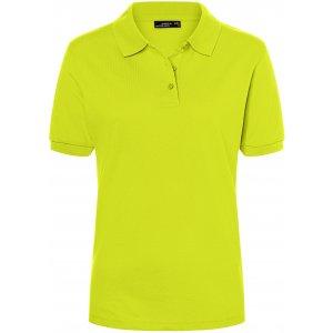 Dámské triko s límečkem premium JAMES NICHOLSON JN071 ACID YELLOW