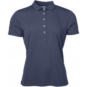 Dámské triko s límečkem funkční classic JAMES NICHOLSON JN719 NAVY