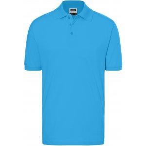 Pánské triko s límečkem premium JAMES NICHOLSON JN070 AQUA