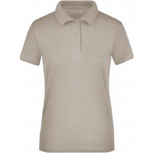 Dámské triko s límečkem funkční cooldry JAMES NICHOLSON JN197 CHALK