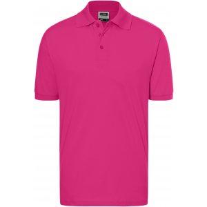 Pánské triko s límečkem premium JAMES NICHOLSON JN070 PINK