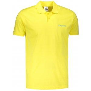 Pánské triko s límečkem ALTISPORT ALM110202 CITRÓNOVÁ
