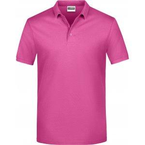 Pánské triko s límečkem classic JAMES NICHOLSON JN792 PINK