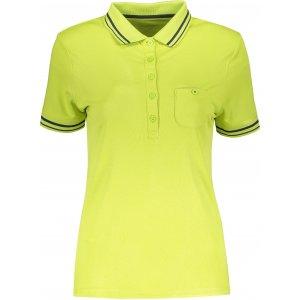 Dámské triko s límečkem funkční komfort JAMES NICHOLSON JN701 ACID YELLOW/CARBON