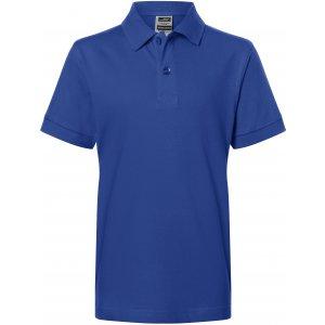 Dětské triko s límečkem premium JAMES NICHOLSON JN070K DARK ROYAL