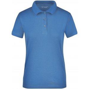 Dámské triko s límečkem funkční cooldry JAMES NICHOLSON JN197 BLUE