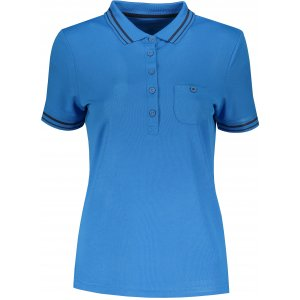 Dámské triko s límečkem funkční komfort JAMES NICHOLSON JN701 COBALT/NAVY