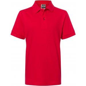 Dětské triko s límečkem premium JAMES NICHOLSON JN070K RED