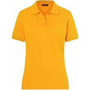 DDámské triko s límečkem premium JAMES NICHOLSON JN071 GOLD YELLOW