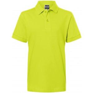 Dětské triko s límečkem premium JAMES NICHOLSON JN070K ACID YELLOW