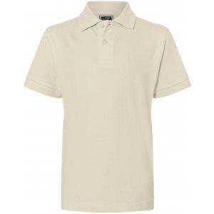 Dětské triko s límečkem premium JAMES NICHOLSON JN070K STONE