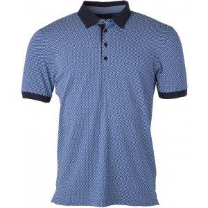 Pánské triko s límečkem JAMES NICHOLSON JN718 BLUE/WHITE